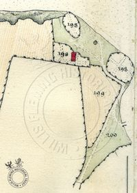 Detail of Gurnard Cliff from Survey of the Estates on the Isle of Wight, 1817