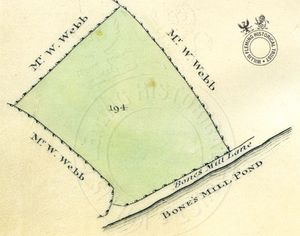 Bowdons Meadow from Survey of the Estates on the Isle of Wight, 1817